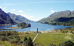 Glenfinnan monument at the head of Loch Shiel